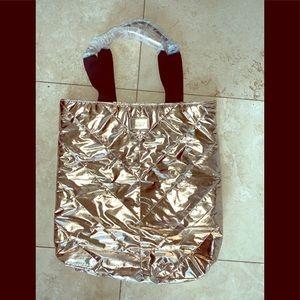 Victoria's Secret gold bronze tote